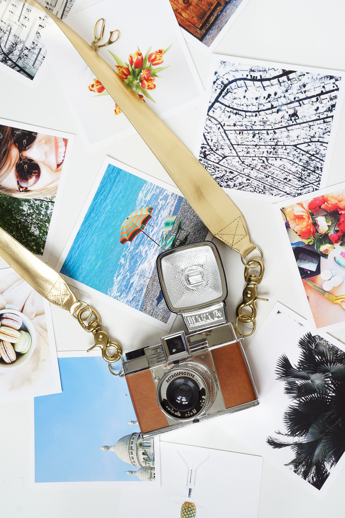 Need a camera strap? We hear you. Check out this glam camera strap tutorial. Click for full details!