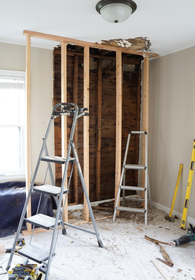 Check in on Part 3 of our 6 week nursery design project. This week we're addressing decades old ice dams. Click to see how we fixed the issue.