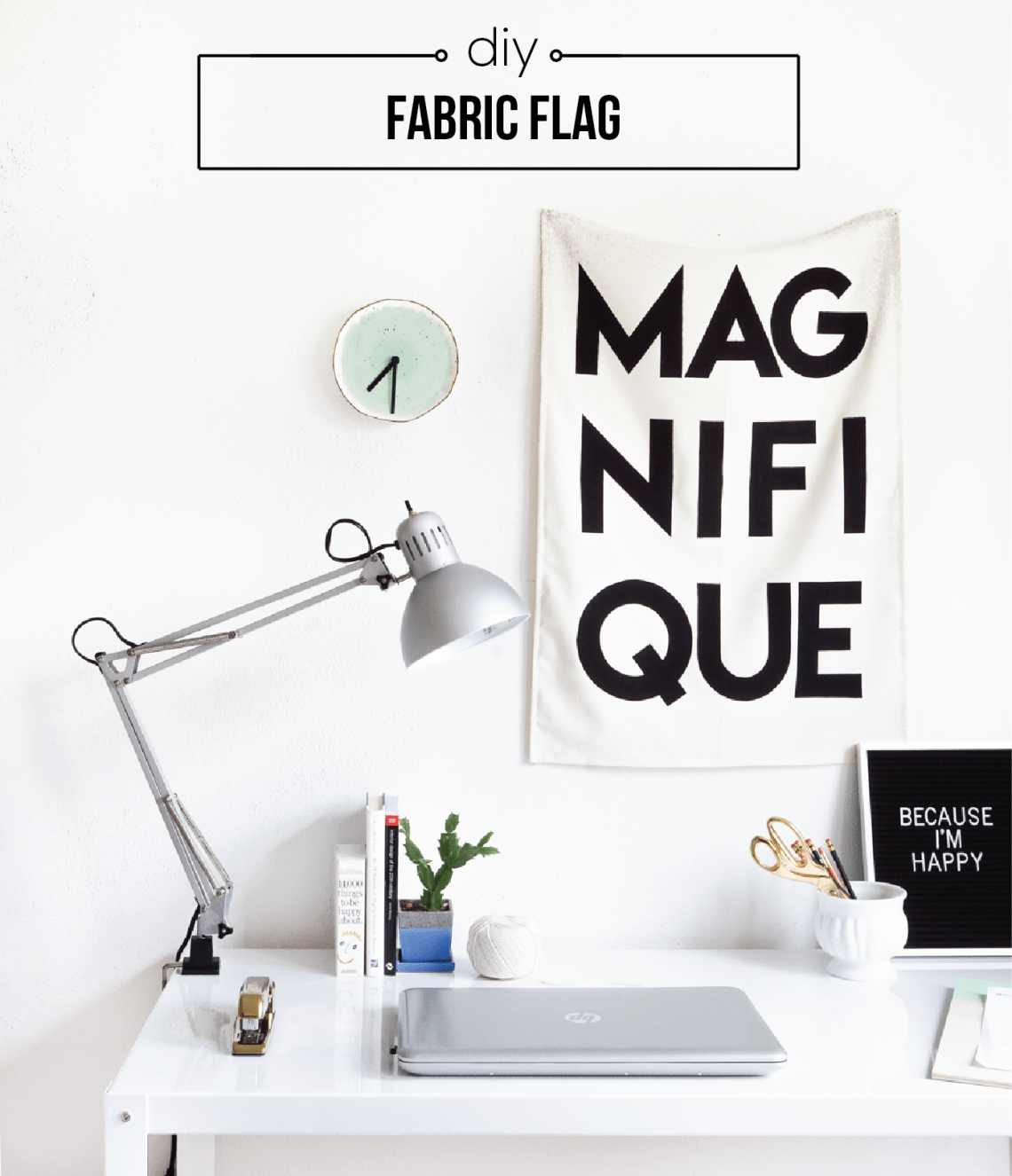 Create a relaxed, quirky, and perhaps a bit French vibe on your walls with Spring with a DIY fabric flag. Click for details!