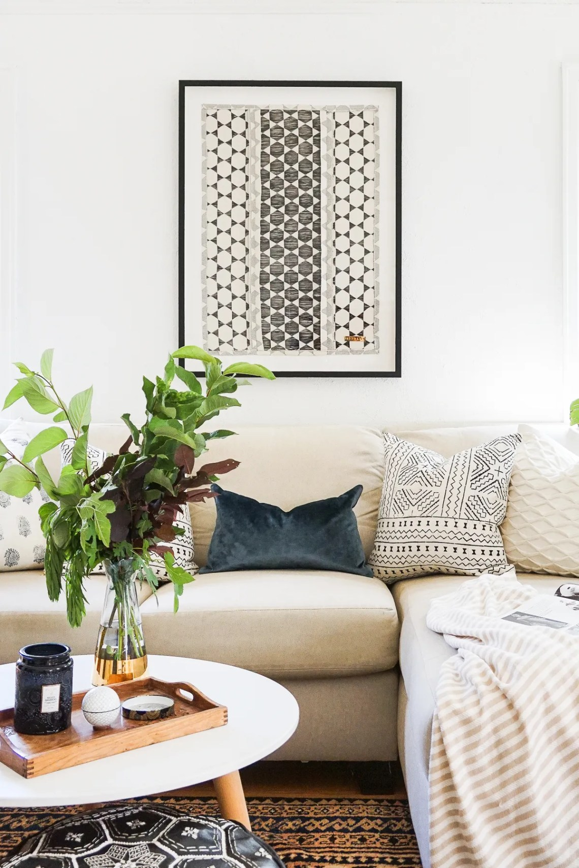 Apply the concept of Mindful design to your home through beautiful handmade home decor from St. Frank.