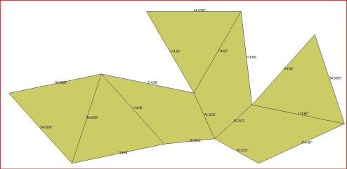 Chestahedron Net with dihedral angles