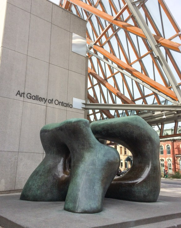 Art Gallery of Toronto with Henry Moore sculpture.