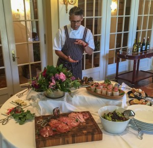 Chef Todd Knoll supervises all the food at The Jordan Winery. Chef Knoll has established a sustainable agriculture program that now includes both garden and livestock.
