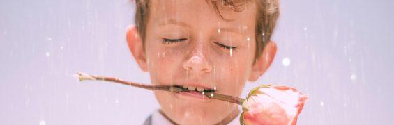 Boy with flower
