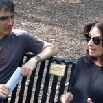 Frank with arts facilitator Adrienne Cohen