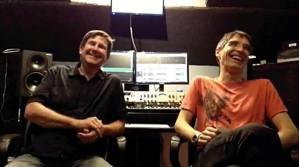 Frank with mastering engineer Dennis Patterson