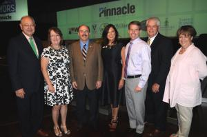 Franklin Mayor Ken Moore, Franklin Tomorrow Executive Director Mindy Tate, speaker Chris Zimmerman of Smart Growth America, Williamson County Association of Realtors Executive Vice President Marti Veto, WCAR Board President Chip Kerr, Williamson County Mayor Kathie Moore, and Franklin Tomorrow Board President Kathie Moore. (Photo by Deborah Varallo)