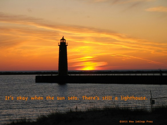 There's still a lighthouse.