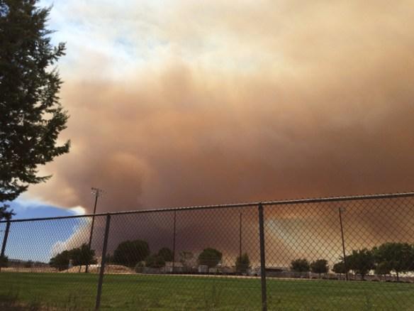 Blue Cut Fire, Day 1. Hesperia, CA.