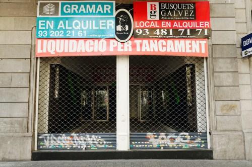 Liquidació per tancament, Barcelona