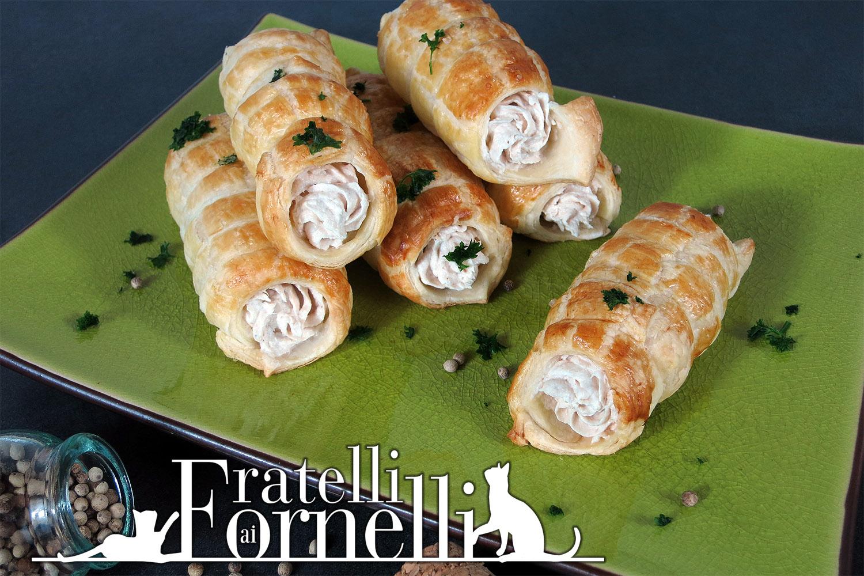 Ricetta cannoli alla mousse di tonno fratelli ai fornelli Tuna and philadelphia pasta