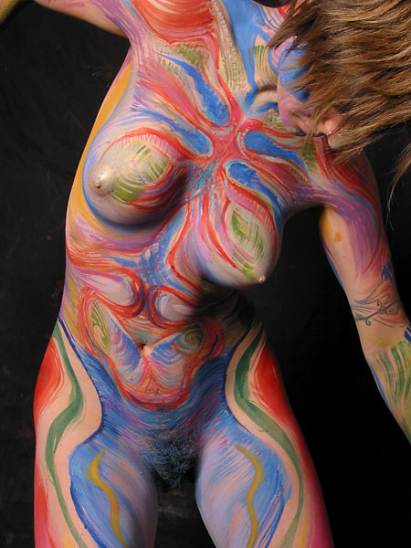 Cathexis, 2002, bodypaint and photo by Fred Hatt