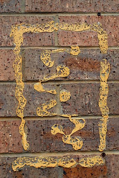 Sign Glue, 2008, photo by Fred Hatt