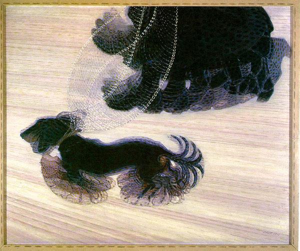 Dynamism of a Dog on a Leash, 1912, by Giacomo Balla