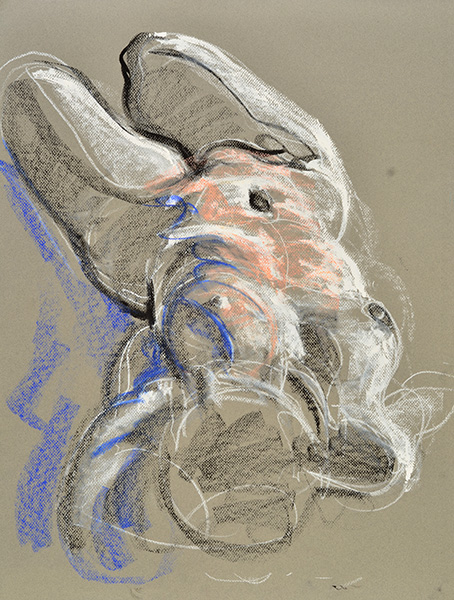 Reclining K from Head End, sketch version, 2013, by Fred Hatt