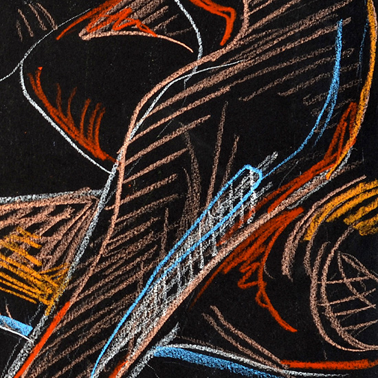 Drawing (detail), 2012, by Fred Hatt