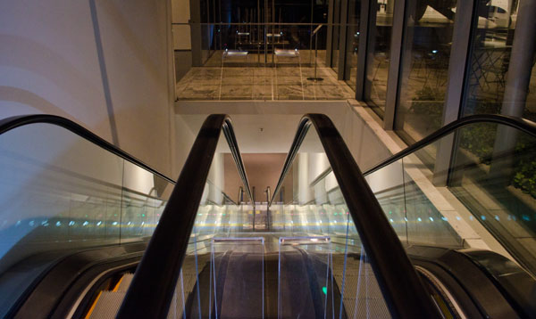 Escalator, 2013, photo by Fred Hatt