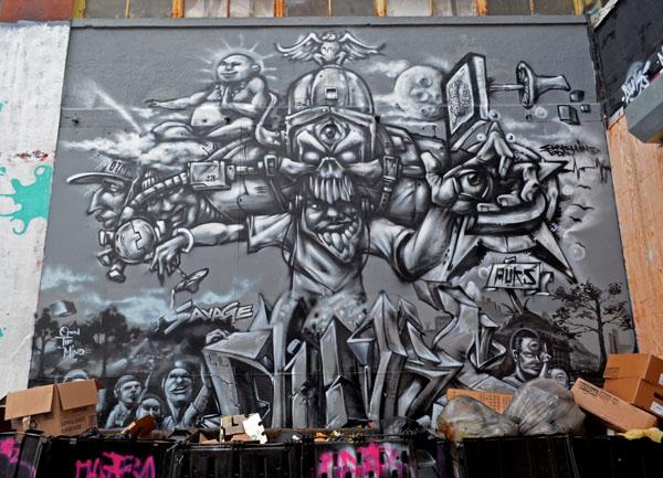 Mural by Auks, 5 Pointz, photo by Fred Hatt