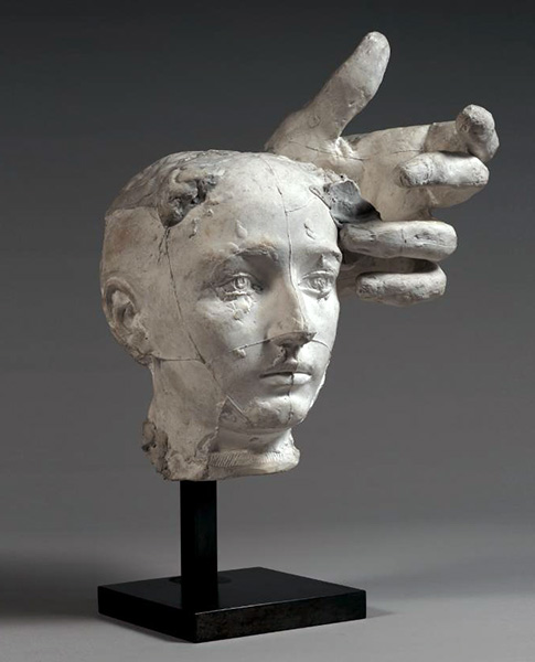 Assemblage: Mask of Camille Claudel and Left Hand of Pierre de Wissant, 1895, by Auguste Rodin