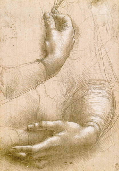 Study of Hands, c. 1474, by Leonardo da Vinci