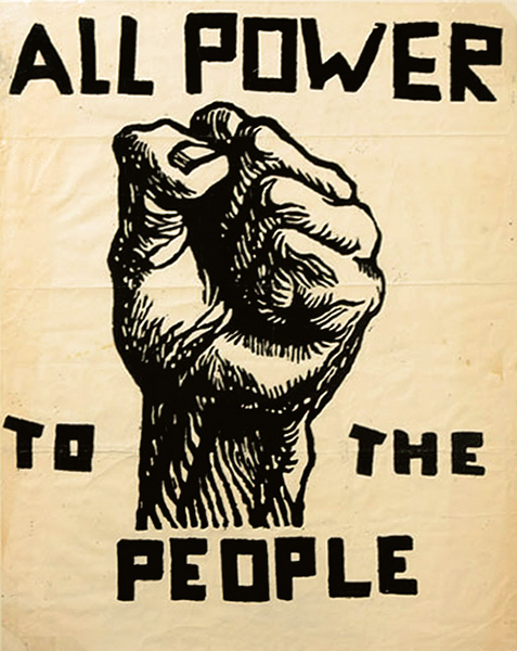 All Power to the People, poster, late 1960's, artist unknown