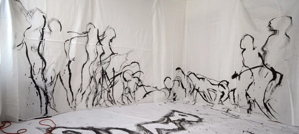 Tracing an Arc of Movement, Temple of the Moving Body, 2014, by Fred Hatt