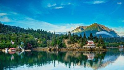 Village in Alaska HD wallpaper