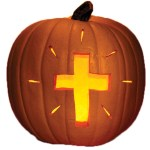 Pumpkin with Cross