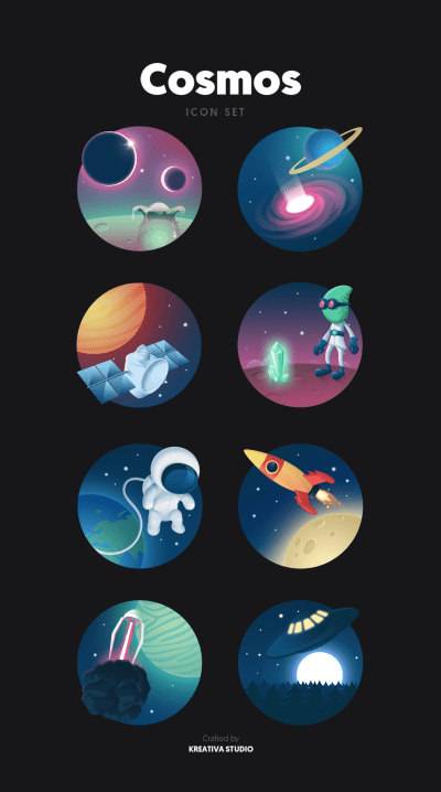 Cosmos Icon Set