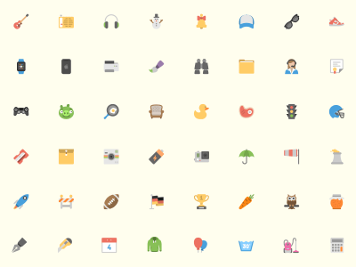 Squid ink 40 Flat Icon Pack