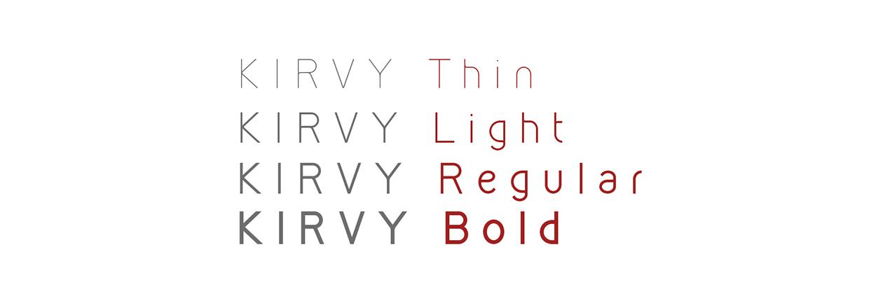 Kirvy Font Family