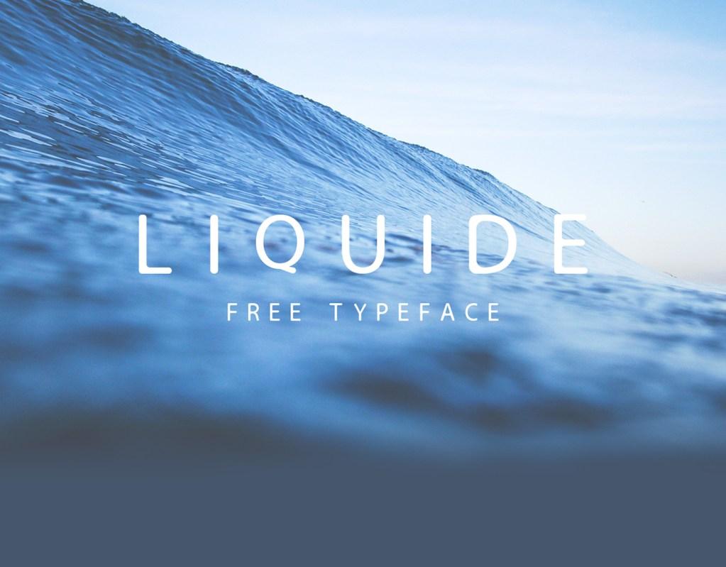 LIQUIDE – Free Typeface