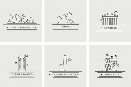 free-world-landmark-icons-grey-preview-opt