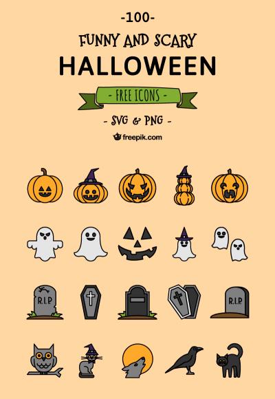 Free 100 Halloween Icons