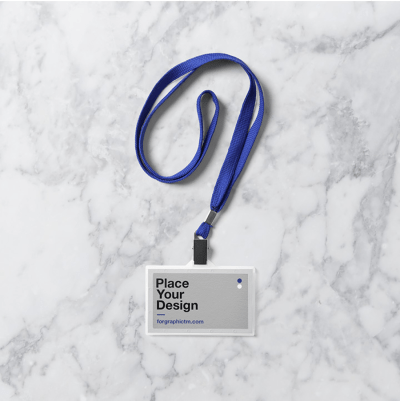 Free ID Card Holder Mock-Up