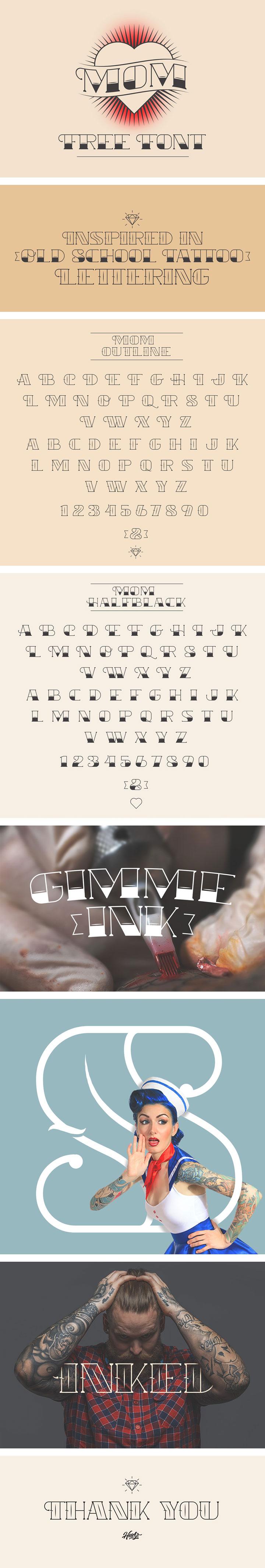 Mom-Tattoo-Font