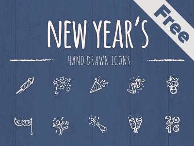 55 New Year's Icons