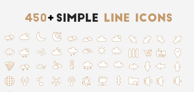 450+ Simple Free Outline Icons