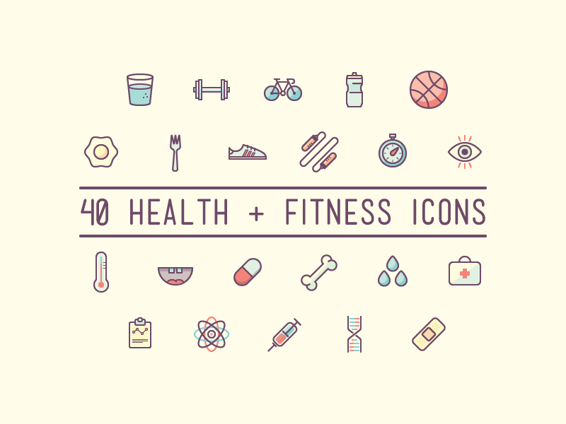 Free Health and Fitness Icons