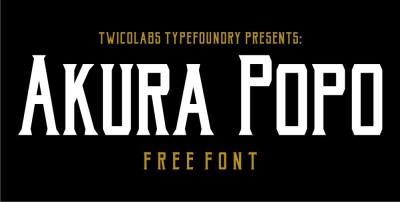 Akura Popo Free Font