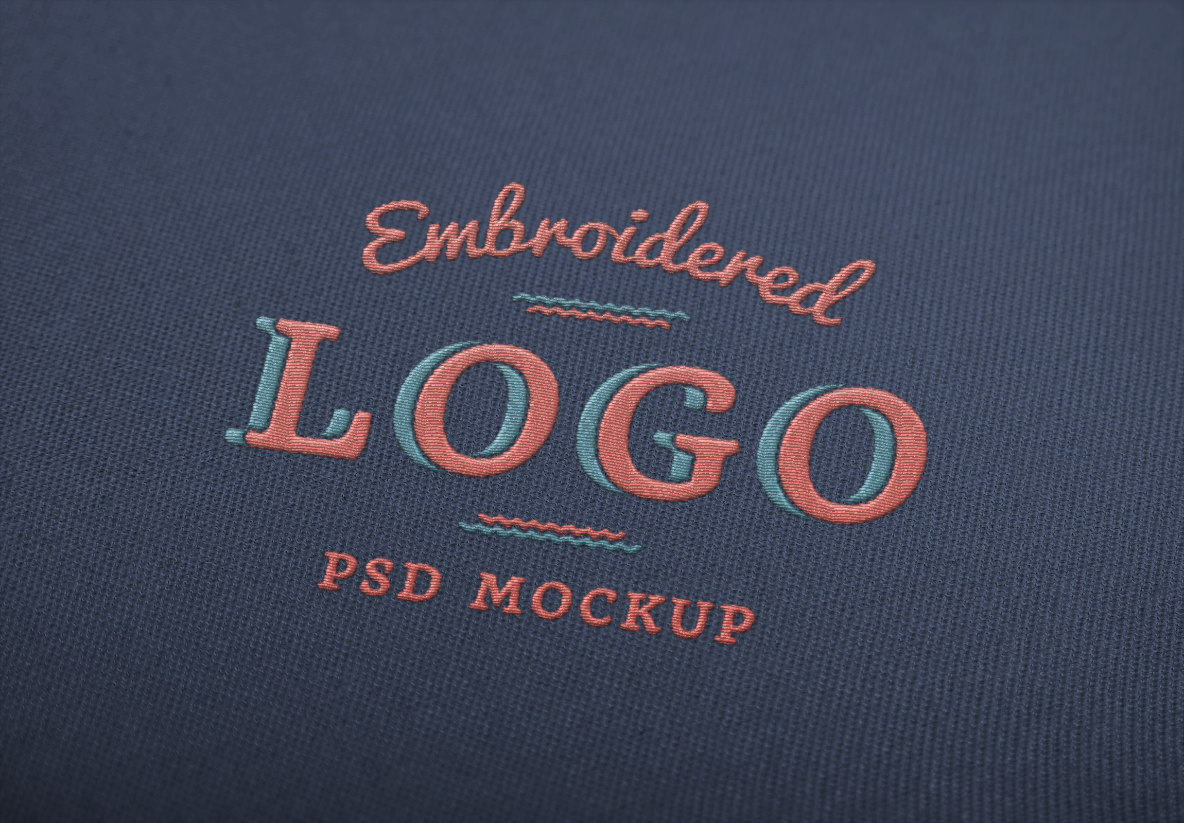free embroidered logo mockup freebie jar