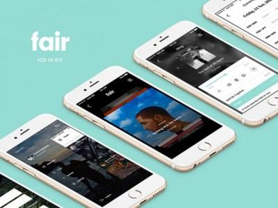Fair Mobile UI Kit: 8 Free App Screens