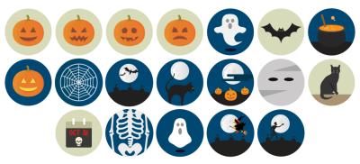 Free Flat Halloween Icons