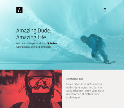 Free PSD One Page Web Design