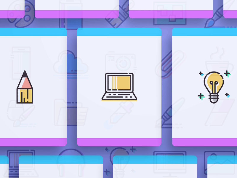 Freebie Coloured Line Icons