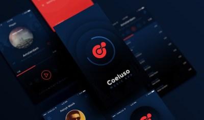 Free Coeluso Mobile App PSD