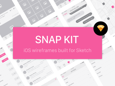 Snap Kit – Free iOS Wireframe Kit