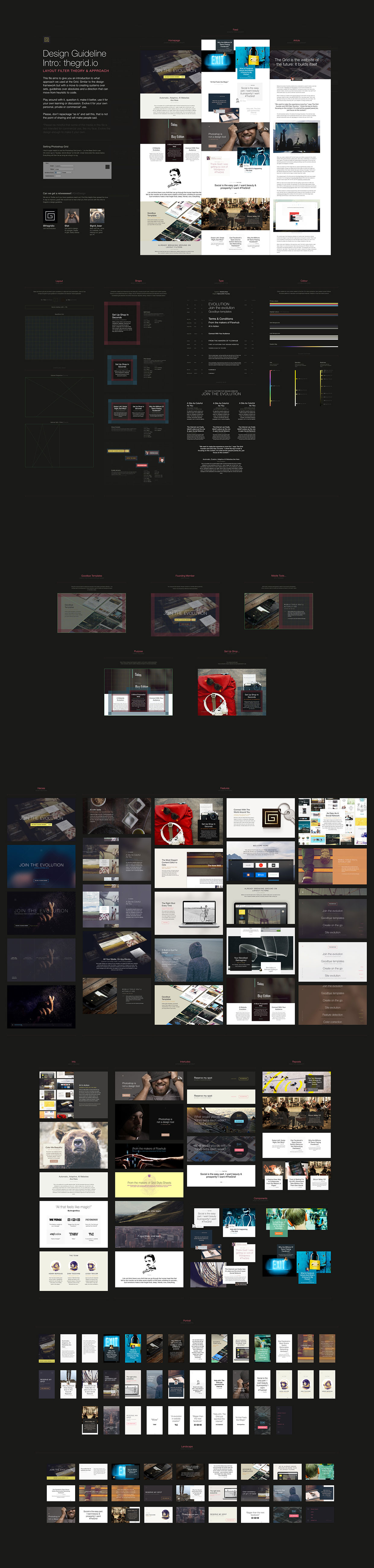 The Grid: Website Free PSD