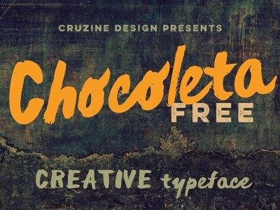 Chocoleta – Free Brush Font