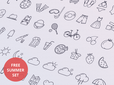 Summer Free Icon Set